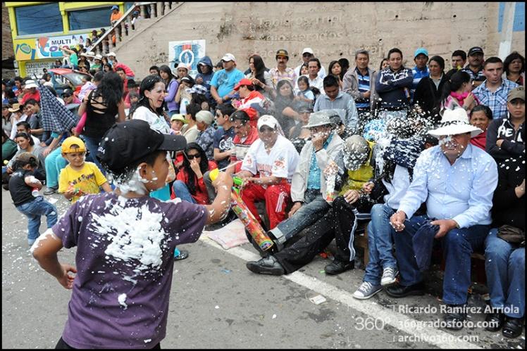 Carnaval 2013. Guaranda, provincia de Bolivar, Ecuador., 10 de febrero de 2013.
