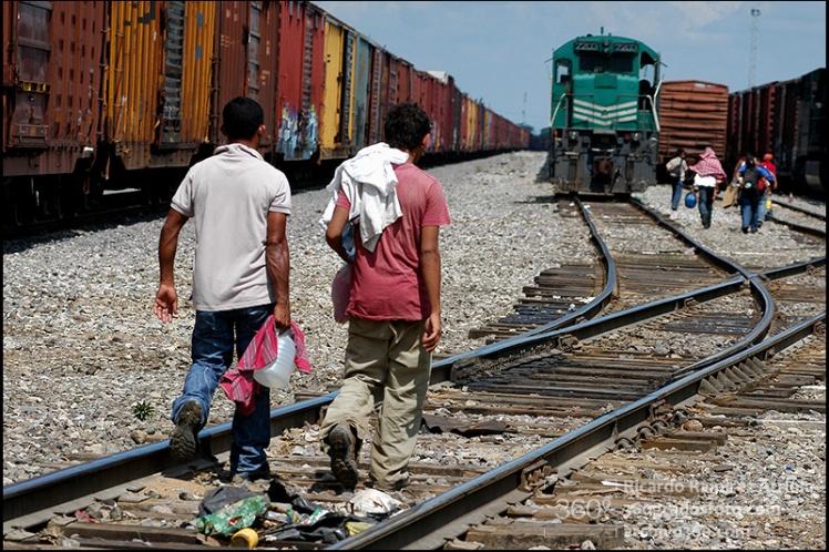 Migrantes centroamericanos. Tierra Blanca, Veracruz, México, 2009. ©Amnesty International Foto: Ricardo Ramírez Arriola