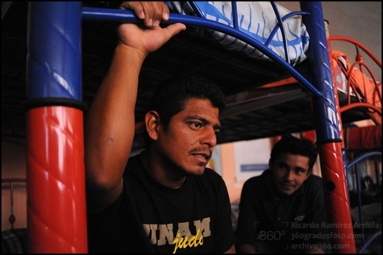 """Albergue de Migrantes """"San Juan Diego"""".Lechería, Estado de México, México, 19 de julio de 2011."""
